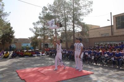 برگزاری نمادین المپیاد ورزشی درون مدرسه ای آموزشگاه فردوسی