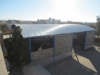 سالن چندمنظوره در دست احداث دبیرستان شاهد شهید رجایی