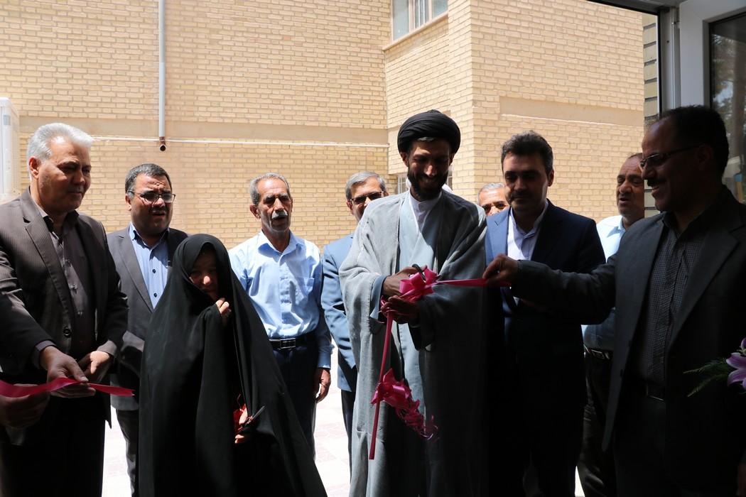 نمازخانه خیری شهیدان افخمی در آموزشگاه حایریان افتتاح شد.