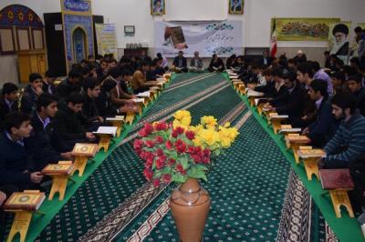گزارش تصویری از مراسم ختم قرآن کریم دردبیرستان شاهد سید الشهدا(ع)